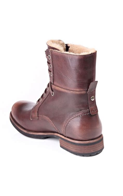 mens brown ugg boots ugg australia larus mens winter boots blueberries