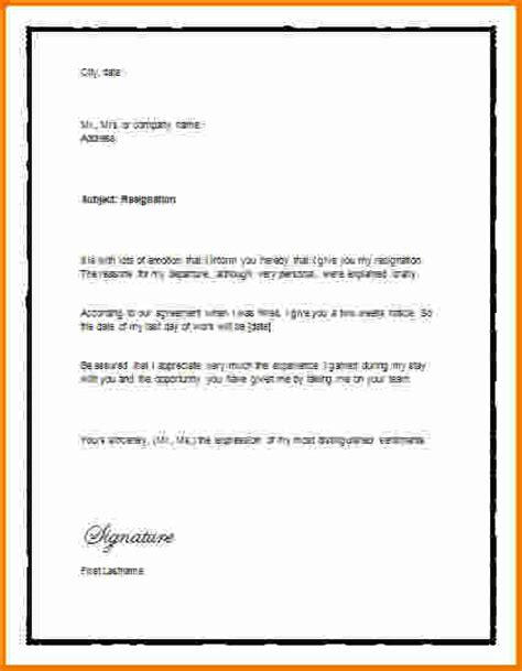 3 resignation letter template two weeks notice expense report