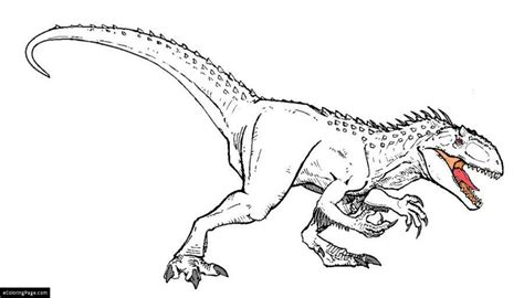 coloring pages of jurassic world jurassic world coloring page ecoloringpage com
