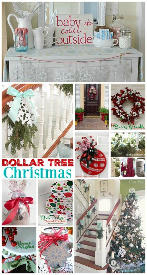 dollar tree home decor dollar tree christmas link party features and 100 ideas