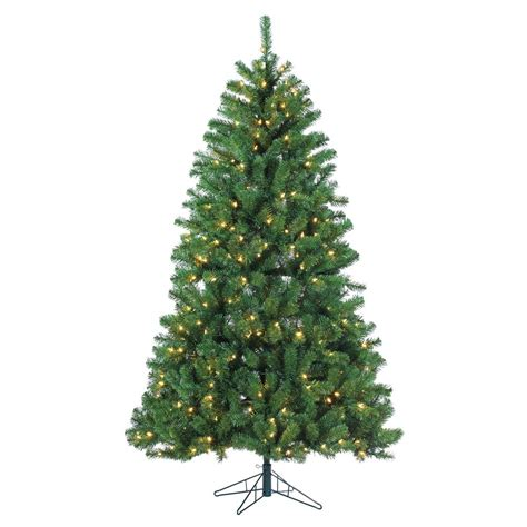 4 white tree with colored lights sterling 7 ft pre lit led montana pine artificial