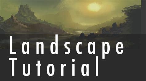 Landscape Digital Tutorial Landscape Painting Tutorial