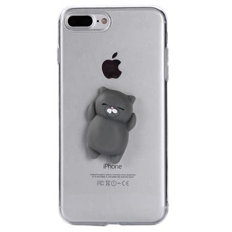 Iphone 7 Plus Soft 3d White Cat Casing Tpu Cover Bumper Armor squishy 3d soft silicone cat tpu phone cover iphone 5 6s 7 8 plus ebay