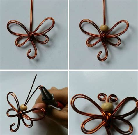 How To Make Handmade Butterflies - how to make butterflies of the wire with their