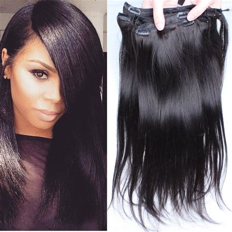 single clip in human hair extensions clip in human hair extensions 6a hair