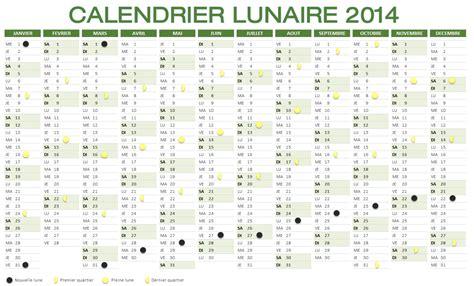 Calendrier Luniare Calendrier Lunaire 2014 Trendyyy