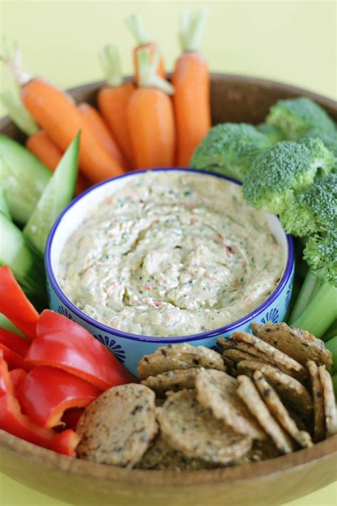 The Best Garden Vegetable Dip Dairy Free Garden Vegetable Dip
