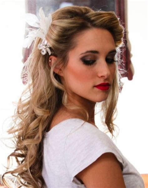 hairstyles with half bangs wedding hairstyles pretty half up half down bangs