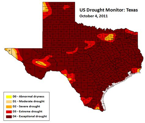current texas drought map severe texas drought exposed in years of living dangerously union of concerned scientists