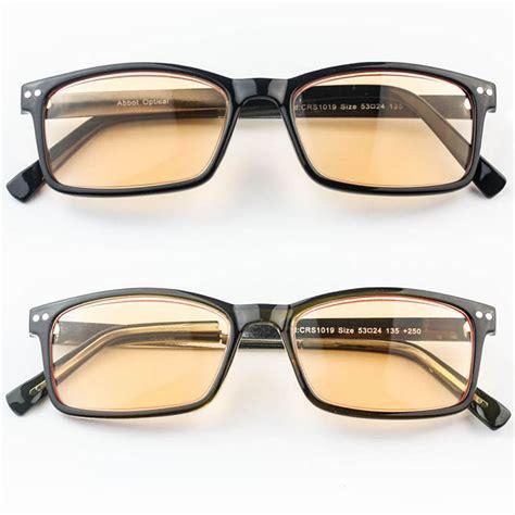 anti glare metal computer reading glasses tinted lens 1 50