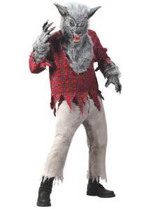 halloween mask and costumes silver werewolf costume