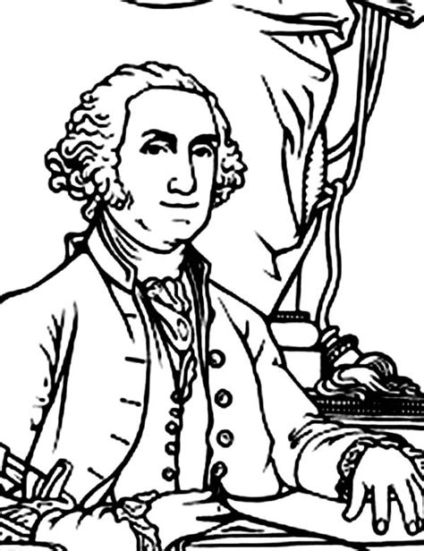 coloring page for george washington george washington was elected in 1788 george washington