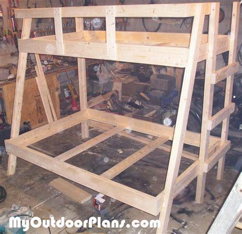 diy twin  double bunk bed myoutdoorplans