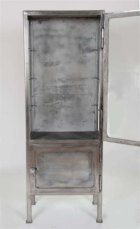 Retro Medicine Cabinet Vintage 1930s Polished Metal Medicine Cabinet At 1stdibs