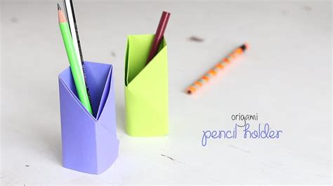 Origami Pencil Holder - holder diy origami pencil holder pencil box with