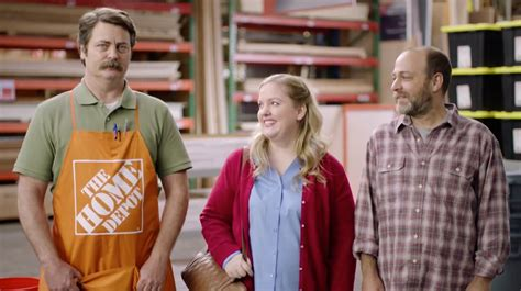 nick offerman s hilarious home depot ad pokes at