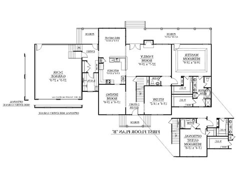 colonial floor plans open concept house style and plans