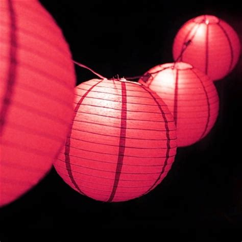 Outdoor Paper Lantern String Lights Moonbright 12 Quot Pink Paper Lantern Outdoor String Light Set 10 Pack Combo Kit On Sale Now