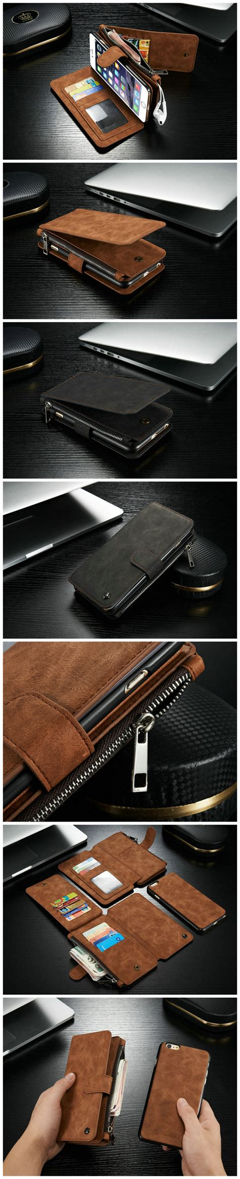 Remax Beast Series Flip Cover For Iphone 6s 6s Plus 3 vintage leather multi function wallet card pocket zipper flip cover for apple iphone 6 plus