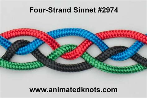 Square Knot Sinnet - four strand sinnet 2974 how to tie a four strand sinnet