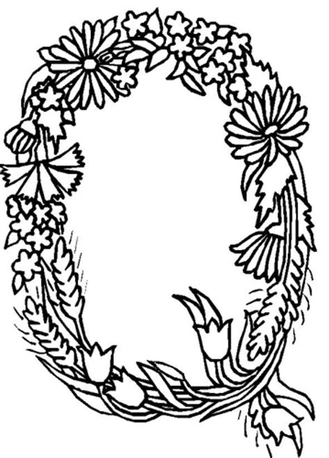 fiori e lettere immagini da colorare alfabeto fiori foglie pagina 4 di 4