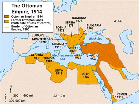 This Map Shows The Size Of The Ottoman Empire As Of 1914 What Is The Ottoman Empire
