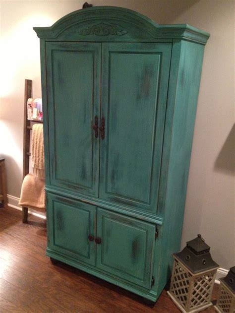 Annie Sloan chalk paint project Old pine armoire first