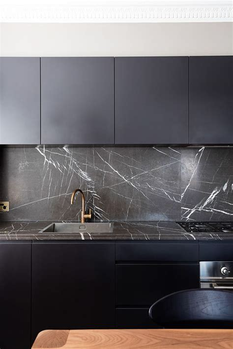 black kitchen backsplash 27 moody dark kitchen d 233 cor ideas digsdigs