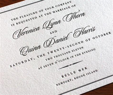 catholic wedding card invitation matter wedding invitation wording formal pt 3 letterpress wedding invitation