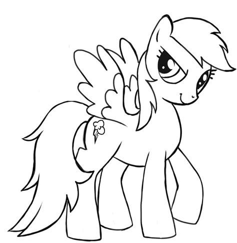 my little pony coloring pages rainbow rainbow dash my little pony coloring page my little pony