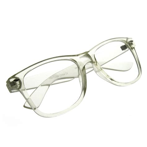 clear transparent translucent frame clear lens