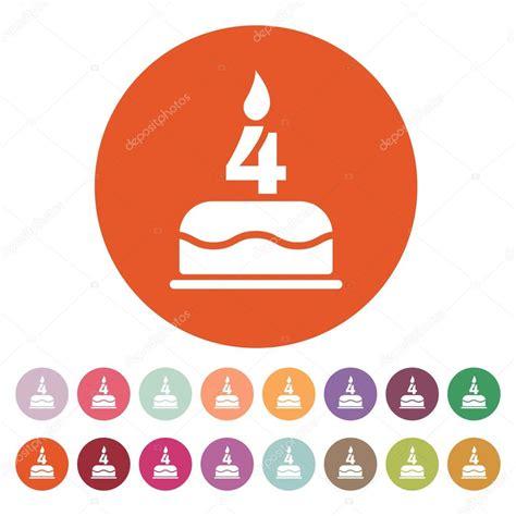torta con candele la torta di compleanno con le candele a forma di icona di