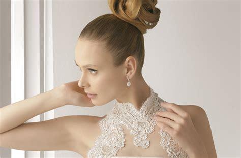 elegant wedding buns wedding hair inspiration elegant bun rosa clara wedding