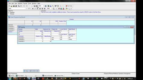 Tutorial De Qm For Windows | tutorial programacion lineal en qm for windows youtube