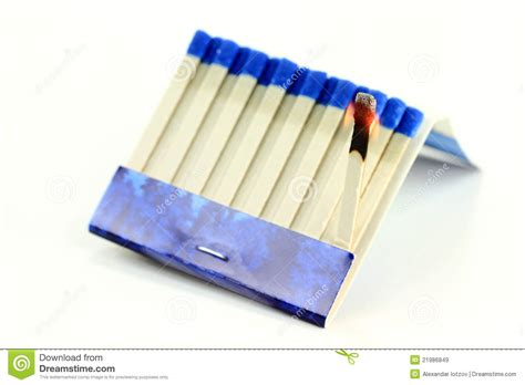 paper stick burning matchbook paper stick macro royalty free stock