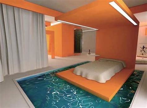 Pool Beds water beds take two funky liquid furniture ideas