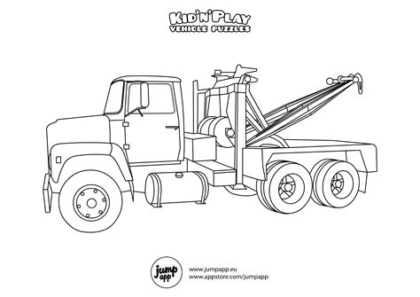 Tow Truck Coloring Page Printout | tow truck printable coloring pages pictures