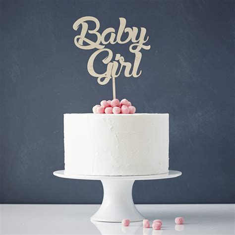 'baby girl' baby shower cake topper by sophia victoria joy   notonthehighstreet.com