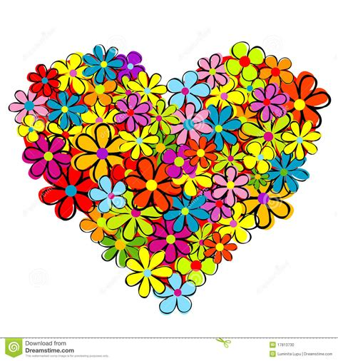 love heart made of flowers heart made of flowers stock photo image 17813730