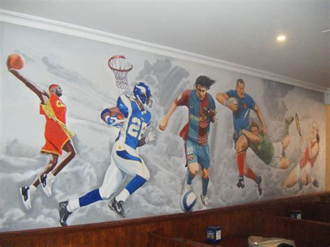 wall murals sports sports murals 2017 grasscloth wallpaper