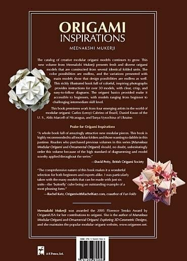 origami inspirations books from the back cover