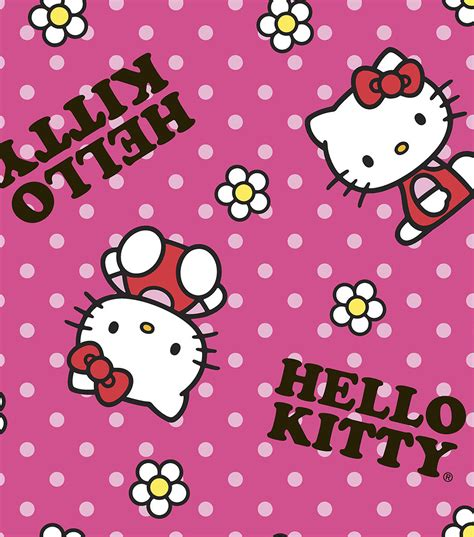 Online Shopping Sites Home Decor sanrio hello kitty flower toss fleece fabric jo ann