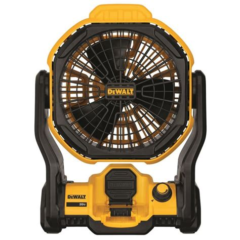 battery operated fans lowes shop dewalt 11 in corded cordless jobsite fan at lowes com