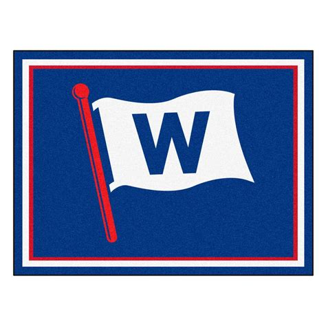 chicago cubs rug fanmats mlb chicago cubs blue 8 ft x 10 ft indoor area rug 17415 the home depot