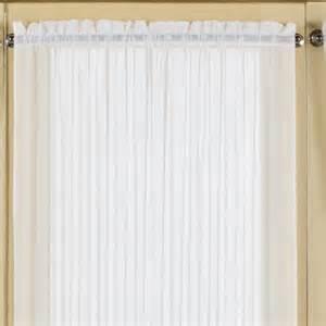 united curtain co batiste door rod pocket single