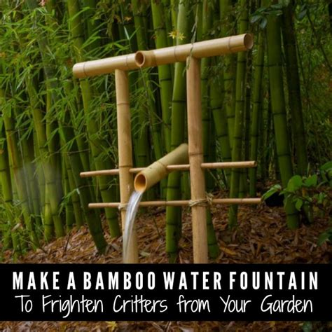 how to make a bamboo water fountain