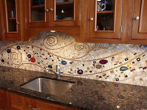 kitchen tile backsplashes 16 wonderful mosaic kitchen backsplashes