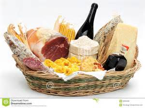 Gourmet Food Basket Basket With Italian Food Royalty Free Stock Photos Image 8209438