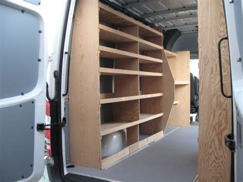 wood shelving storage sprinter forum organization