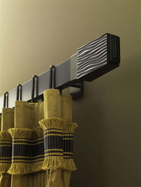 curtain rods modern design chic curtain poles add syle to your rooms
